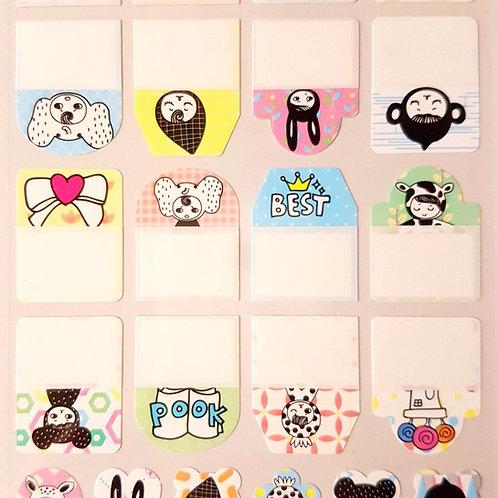 STICKERS - 防水姓名貼紙 可愛兔女 Name Stickers Series Rabbit Girl