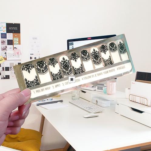 Designers' Nail Wraps -Tintark #27