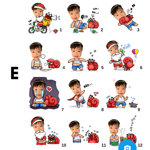 Cute Series Template E1-E12 人像DIY產品素材 E1-E12 (1 piece/1 order)
