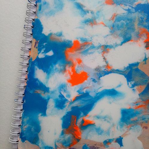 HK DESIGN - Original artwork A5 Notebook (Journal) 原創塑膠彩畫封面A5筆記本 (日誌) 3