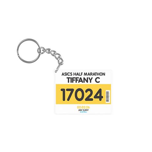 Marathon Personalized Key Chain 訂製 您個人專屬的馬拉松匙扣