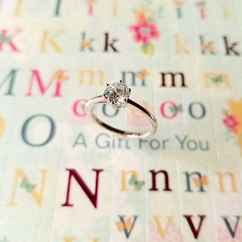 RING - 8 Hearts 8 Arrows Cut Blink Stone 八心八箭為愛而生戒指