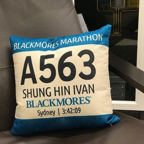 Marathon Cushion 厚磅亞麻號碼布咕臣