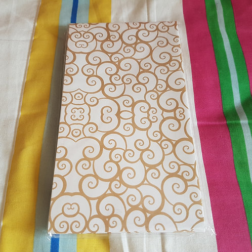 STATIONERY - Paper Gift Bags Flower Pattern 禮物紙袋 - 吉祥花