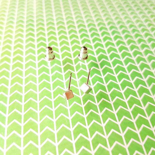EARRINGS 耳環 Beautiful Lady Series- 3D Square 立方體