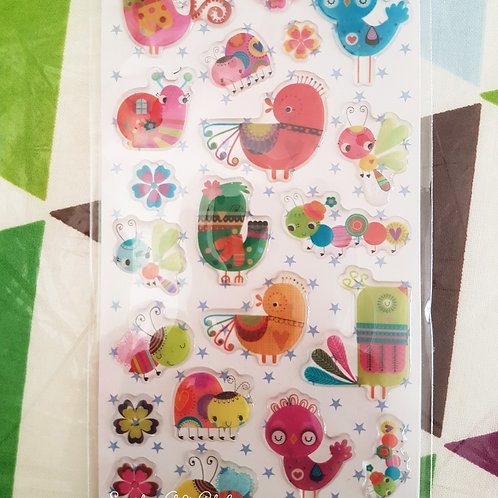 STICKERS - Singing Birds 水晶貼紙 - 小鳥