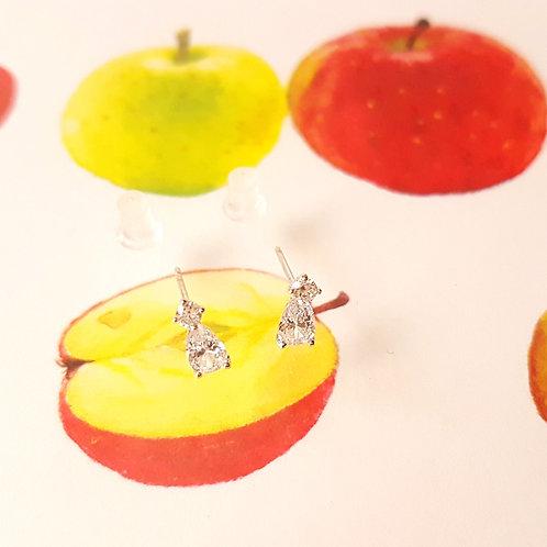EARRINGS 耳環 Elegant Series 925 Silver Sweetie 優雅系列 - 925純銀 甜蜜愛情