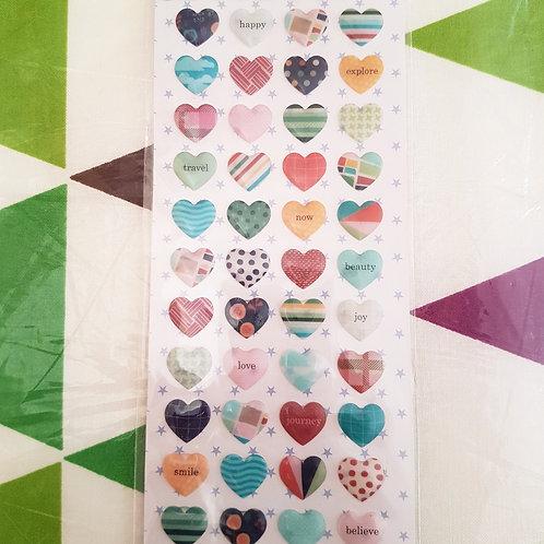 STICKERS - Crystal Hearts 水晶貼紙 - 心型
