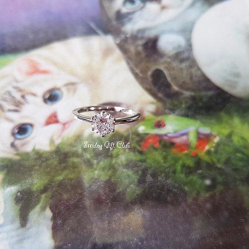 RING 戒指- Hearts & Arrows 卡裝八心八箭鋯石鑽飾
