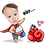 Thumbnail: Cute Series Template E1-E12 人像DIY產品素材 E1-E12 (1 piece/1 order)