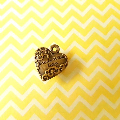 DIY Handicrafts - Antique Love Letters Series - Heart 古董款 愛心吊墜