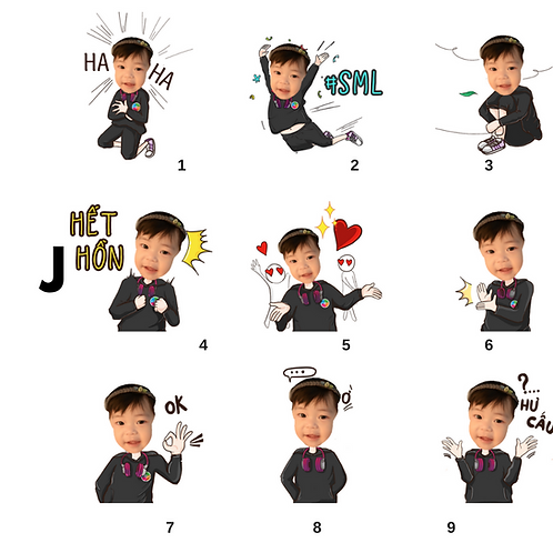 Cute Series Template J1-J9 人像DIY產品素材 J1-J9 (1 piece/1 order)