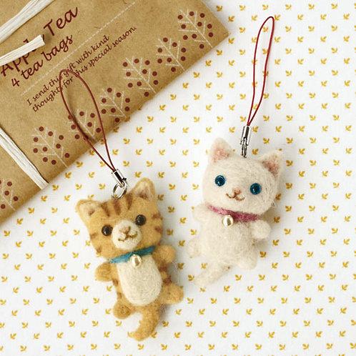 DIY- 日本白貓及虎紋貓 (套裝包) DIY Hamanaka White & Tiger Cat (Package)