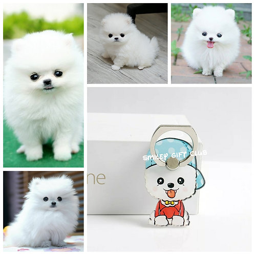 THEME - 寵物手機指環 (白) Pets Mobile Ring Souvenirs (White)