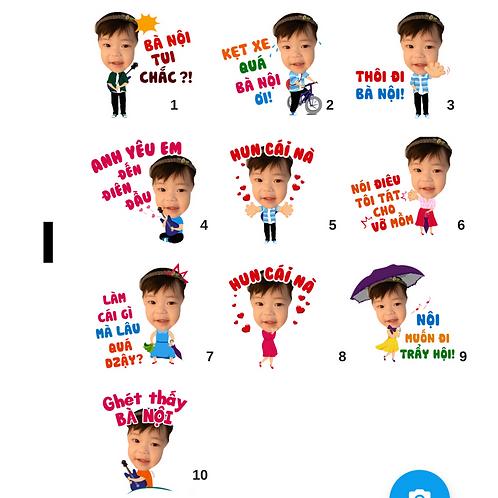 Cute Series Template I1-I10 人像DIY產品素材 I1-I10 (1 piece/1 order)
