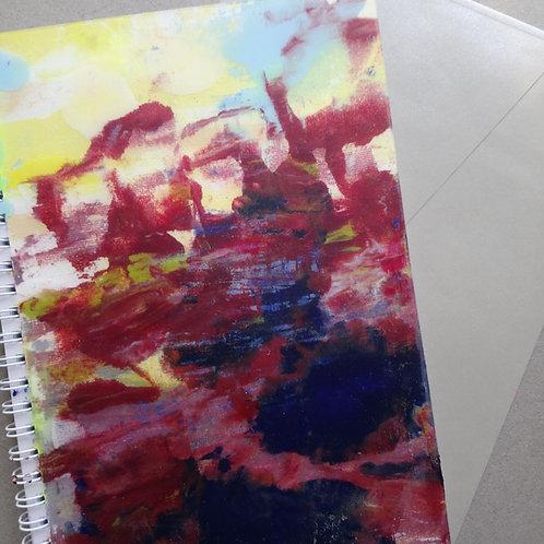 HK DESIGN - Original artwork A5 Notebook (Journal) 原創塑膠彩畫封面A5筆記本 (日誌) 7