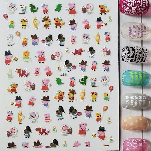 3D Nail Art Stickers Decals #99