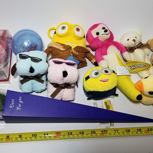 Plush Toys Claw Machine-Small 夾公仔機細公仔 (1 Set, 11 pieces)