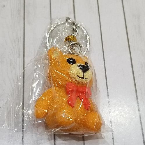 TOYS - FIGURINES Key-chain Teddy Bear 橙熊仔匙扣 (1 piece)