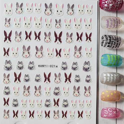 3D Nail Art Stickers Decals #111