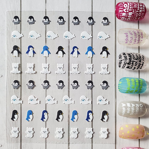 3D Nail Art Stickers Decals #98