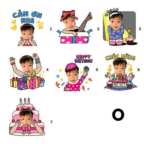 Cute Series Template O1-O7 人像DIY產品素材 O1-O7 (1 piece/1 order)
