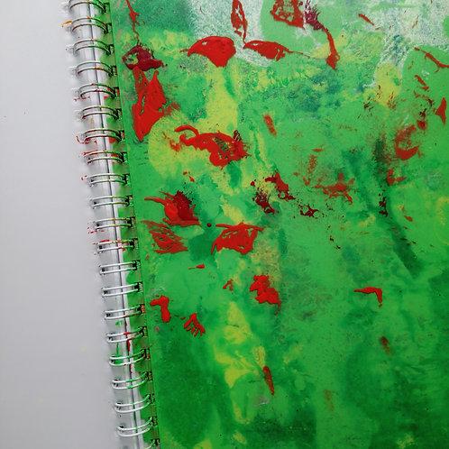HK DESIGN - Original artwork A5 Notebook (Journal) 原創塑膠彩畫封面A5筆記本 (日誌) 9