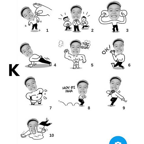 Cute Series Template K1-K10 人像DIY產品素材 K1-K10 (1 piece/1 order)