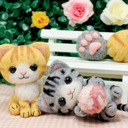 DIY- 公園的小貓咪 (套裝包) DIY Cat in the Garden  (Package)