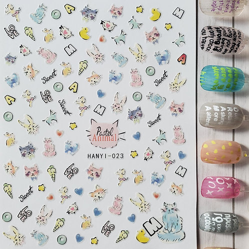 3D Nail Art Stickers Decals #91