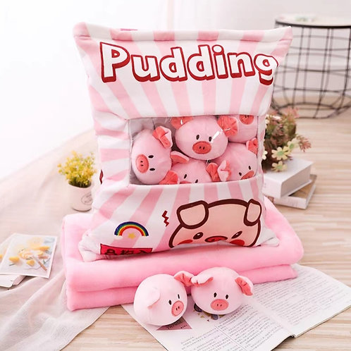 Plush Toys Claw Machine - Pig Small Size 粉耳豬仔拳頭尺寸 (10 pieces)