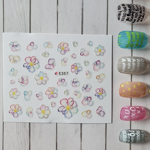 3D Nail Art Stickers Decals #95