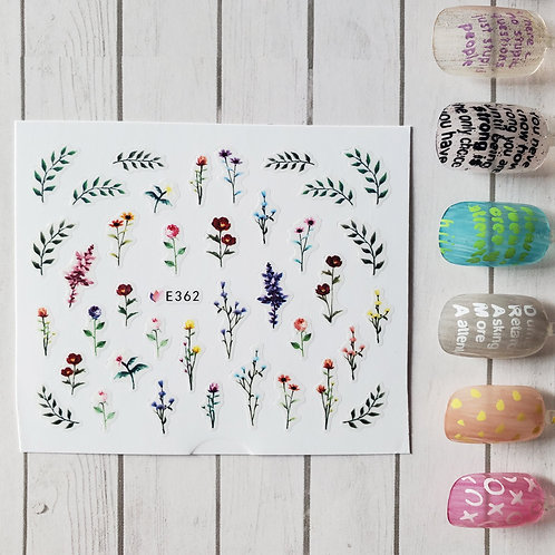 3D Nail Art Stickers Decals #110