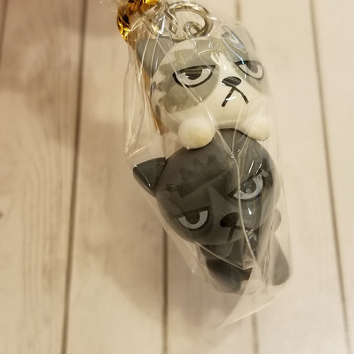 TOYS - FIGURINES Key-chain 雙子貓匙扣