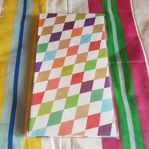 STATIONERY - Paper Gift Bags Colorful Pattern 禮物紙袋 - 彩色菱型