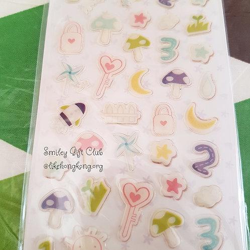STICKERS - Happy 123 水晶貼紙 - 快樂123