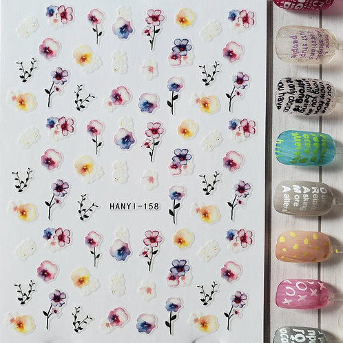 3D Nail Art Stickers Decals #96