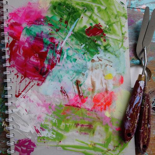 HK DESIGN - Original artwork L Notebook (Journal) 原創塑膠彩畫封面大筆記本 (日誌) 10