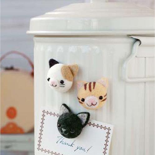 DIY- 磁石小貓咪 (套裝包) DIY Made in Lovely Cat Magnet