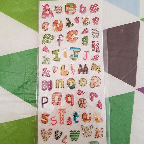 STICKERS - Letters 水晶貼紙 - 字母