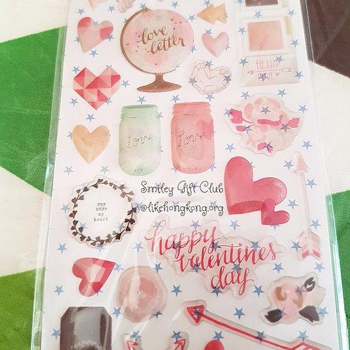 STICKERS - Happy Valentine 水晶貼紙 - 快樂情人節