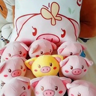 Plush Toys Claw Machine - Golden Pig Small Size 刺繡金豬拳頭尺寸 (10 pieces)