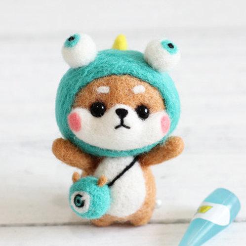 DIY- 可愛淺綠帽子小狗 (套裝包) DIY My Doggie Green Hat (Package)
