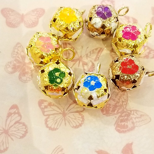 DIY Accessories Flower Bell 1 piece 高級花卉鈴鐺1個 (多色)