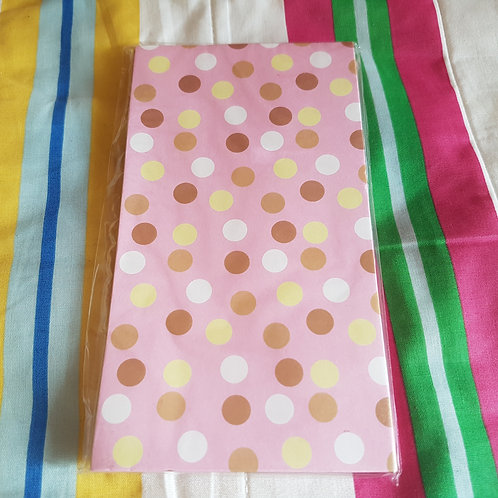 STATIONERY - Paper Gift Bags Pink Dot 禮物紙袋 - 粉紅點