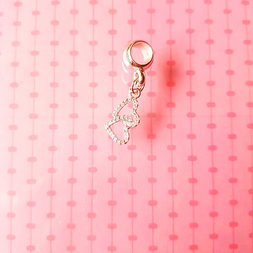 CHARMS 串飾 Heart Dangle in Silver with Zircon 心型仿鑽吊飾