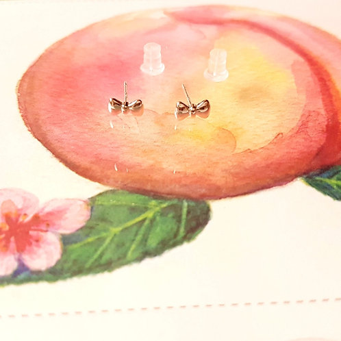EARRINGS 耳環 Elegant Series 925 Silver Ribbon 優雅系列 - 925純銀 蝴蝶結