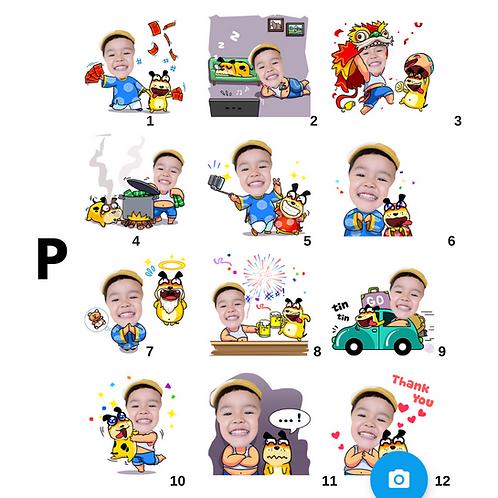 Cute Series Template P1-P12 人像DIY產品素材 P1-P12 (1 piece/1 order)
