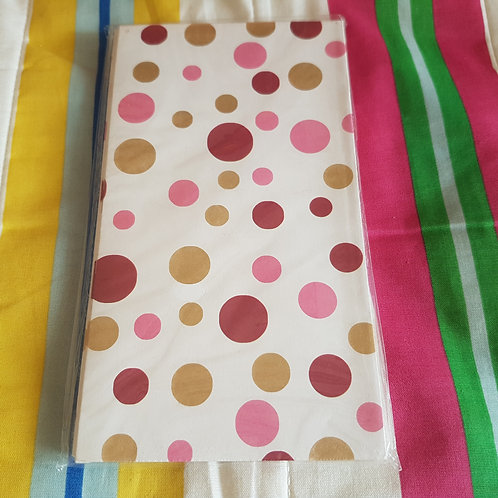 STATIONERY - Paper Gift Bags White Pink Dot 禮物紙袋 - 白粉紅點