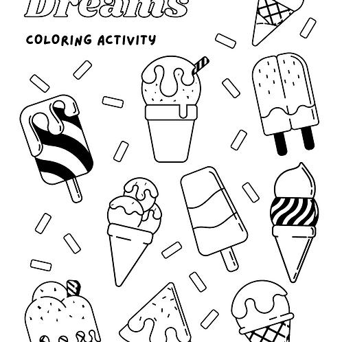 FREE Coloring Page -  Ice-cream 免費顏色紙 - 雪糕